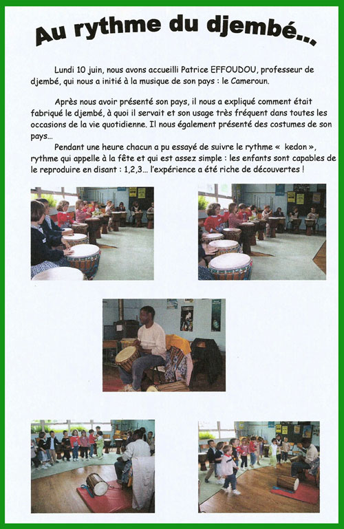 article enfant djembe